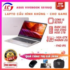 Laptop Edit Video Chơi Game Chuyên Nghiệp Asus Vivobook S510UQ, i5-8250U, Màn 15.6 FullHD IPS, Viền Siêu Mỏng, Cạc Rời, Laptop Gaming