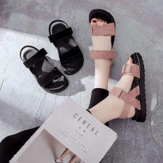 Dép sandal nữ quai ngang da lộn phong cách hàn quốc đế bánh mì siêu êm đi học đi làm hay đi chơi đều có thể sử dụng
