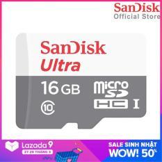 Thẻ Nhớ MicroSDHC SanDisk Ultra 16GB 533x 80MB/s SDSQUNS-016G-GN3MN Tốc độ đọc 80 MB/s Tốc độ Ghi 10 MB/s
