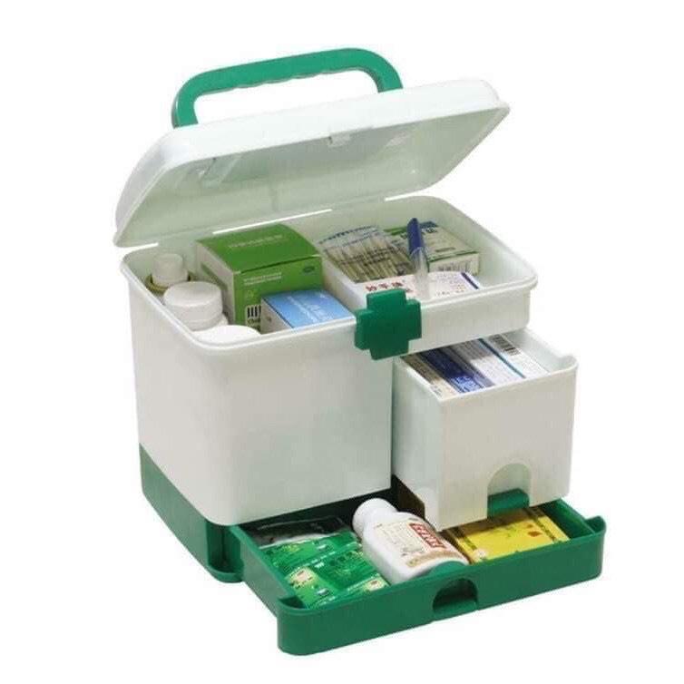 Hộp đựng thuốc, hộp y tế gia đình, tủ nhựa đựng đồ nhiều ngăn đa năng - Tủ thuốc mini...