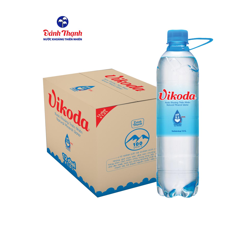 Nước khoáng kiềm thiên nhiên vikoda chai 15l (thùng 12 chai), giúp bổ sung các nguyên tố vi lượng thiết yếu, nâng cao sức đề kháng cho cơ thể, giúp cơ thể luôn khỏe mạnh