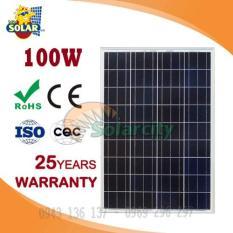 Tấm pin năng lượng mặt trời 100w Poly