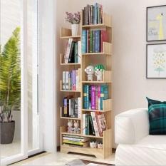 Kệ sách hình cây đa tầng màu gỗ GP66