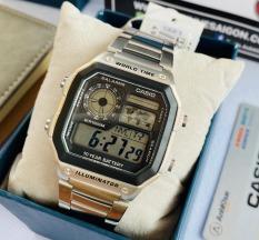 Đồng hồ nam dây kim loại Casio AE-1200WHD-1AVDF tặng dây da bò cao cấp