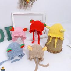 Mũ/Nón Len TAI Trái cây cho bé gái bé trai 0-12 tháng-M59