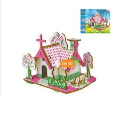 Đồ chơi lắp ráp gỗ 3D Mô hình American Dream Cottage
