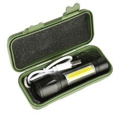 Đèn pin mini cầm tay siêu sáng, đèn gắn xe đạp cao cấp –đèn pin siêu sáng sạc điện sản xuấtcó thể zoom khoảng cách xa gần – Đèn pin mini bóng Q5 siêu sáng có đèn trên thân