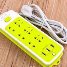 Ổ Cắm Điện – Ổ Điện Đa Năng 6 Phích Cắm 3 Cổng USB Sạc Điện Thoại Hàng Cao Cấp Dùng Siêu Bền