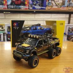 Mô hình xe ô tô Ford F150 Raptor 6×6 tỉ lệ 1:28 màu đen
