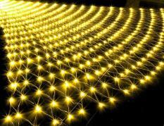 Dây đèn led trang trí hình lưới đánh cá (Vàng)