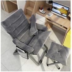 Ghế xếp thư giãn + tặng kèm đôn ghế – Ghế xếp thư giãn – ghế tựa lưng nằm xem phim, đọc sách, làm việc