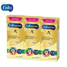 Lốc 3 hộp sữa bột pha sẵn Enfagrow A+4 hương Vani 180ml