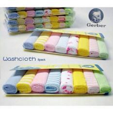 Set khăn mặt Gerber 8 chiếc, khăn đa năng, khăn ăn cho bé, khăn sữa nhỏ