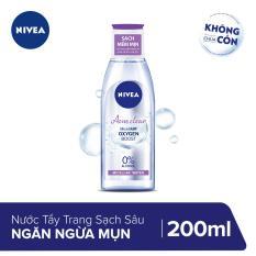 Nước Tẩy Trang Sạch Sâu Ngăn Ngừa Mụn Nivea 200ml _ 89271 + Tặng băng đô rửa mặt