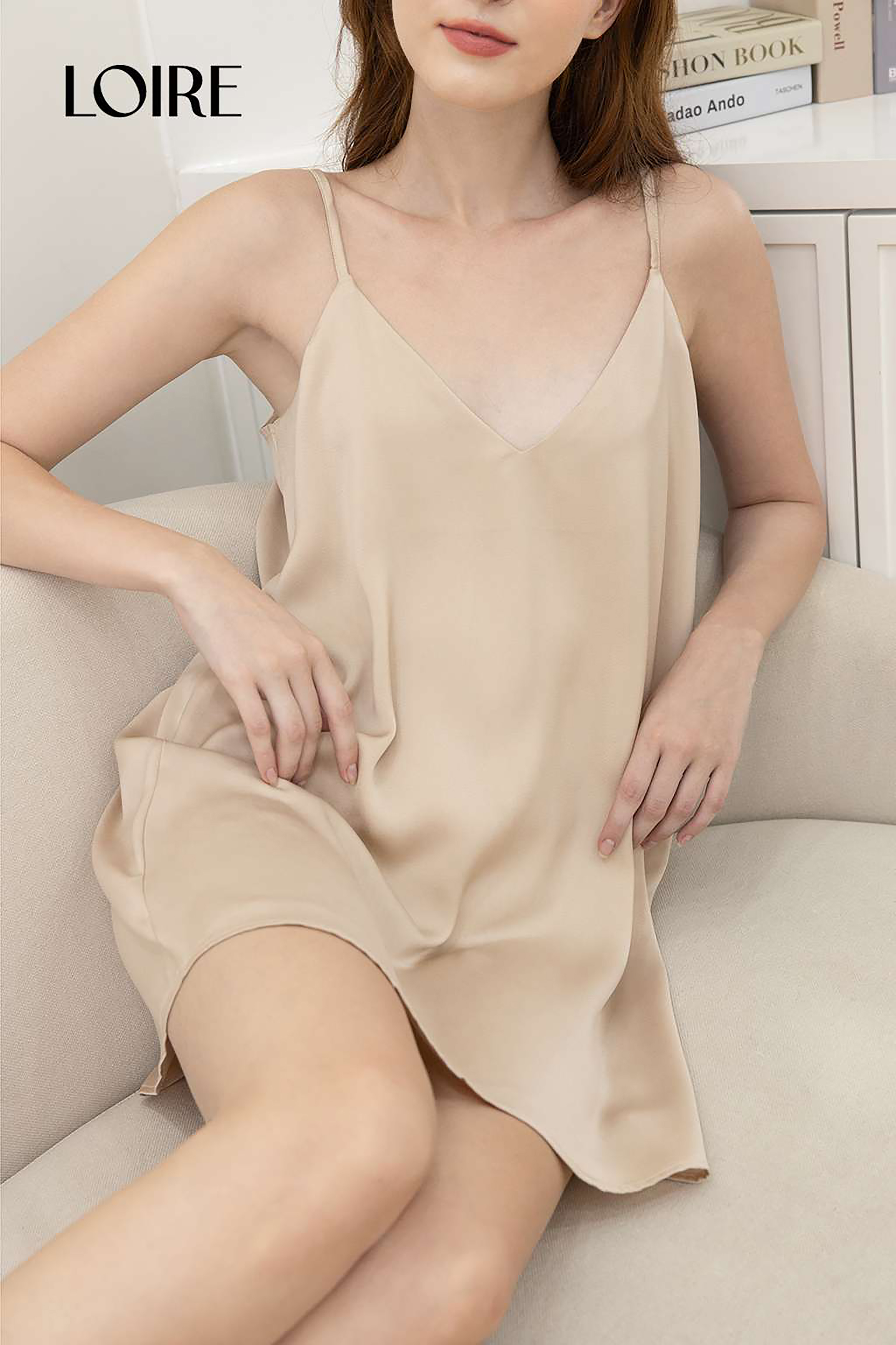 Váy Lụa 2 Dây Cao Cấp Loirechic LSL05