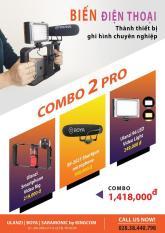 BỘ COMBO PHỤ KIỆN CHO ĐIỆN THOẠI – COMBO PRO BIẾN ĐIỆN THOẠI Thành Thiết bị ghi hình chuyên nghiệp , Ulan pro – Led 49 bóng – Micro Boya BY-MM1