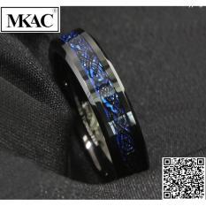 Nhẫn nam titan đá xanh cực đẹp – MKAC