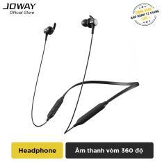 Tai nghe Bluetooth JOWAY H72 Extra Bass, bản thay thế JOWAY H09 hỗ trợ đàm thoại 10h, nghe nhạc 9h, chống nước, mồ hôi, chống ồn cao cấp – Hãng phân phối chính thức