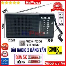 Đài radio FM-AM CMIK MK141 H2Pro có jack cắm tai nghe, đài fm-am bỏ túi nhỏ gọn, sang trọng (tặng đôi pin AA 5K)