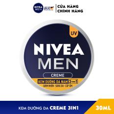Kem Dưỡng Da Nam NIVEA MEN Creme 3in1 Giúp Giảm Nhờn, Sáng Da, Cấp Ẩm (30G) – 83923