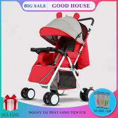 Xe nôi xe đẩy em bé hai chiều phiên bản cao cấp hai tư thế nằm ngồi siêu nhẹ có thể gấp, xách tay cho bé 0-3 tuổi. Bảo hành 2 năm, lỗi 1 đổi 1 trong 7 ngày