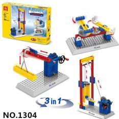 Đồ chơi lắp ghép dạy bé nguyên lý hoạt động Cối Xoay Gió , thang máy ,bánh răng được Bằng nhựa ABS an toàn Lego Style