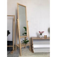 GƯƠNG GỖ ĐỨNG – GƯƠNG ĐỨNG SOI TOÀN THÂN KHUNG GỖ – KIẾNG SOI TOÀN THÂN – Gương decor – Gương gỗ mix kệ