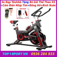 Xe đạp tập thể dục tại nhà | xe đạp tập gym | xe đạp tập thể thao tại nhà Tôshikô X8 GH709 – tặng máy cơ bụng + bó gối + Đồng hồ 6 chỉ số + cảm biến nhịp tim + bình nước thể thao Xsport – bảo hành 36 tháng