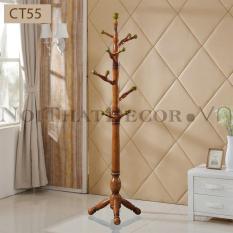Cây treo quần áo bằng gỗ tự nhiên hình cây cao cấp kiểu dáng độc đáo CT55