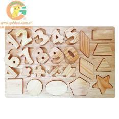 Bảng chữ số bằng gỗ- Đồ chơi bằng gỗ an toàn cho bé