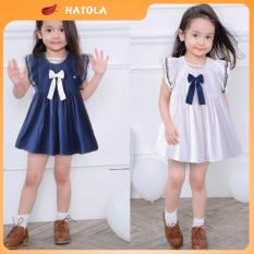 HATOLA – Váy cho bé gái từ 1 đến 5 tuổi siêu xinh, Đầm cho bé gái Cotton co dãn, Quần áo trẻ em nhiều màu Đ-T-Đ