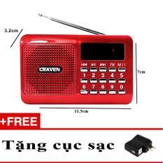 Máy nghe đài FM, thẻ nhớ, USB Craven CR16