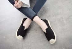 Giày lười vải đen – Slip on nữ