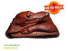 Ví cá sấu nguyên con đan viền Ruby Luxury RLS-VCD