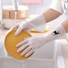 Găng tay rửa chén, bát cao su siêu bền, siêu dai, không thấm nước