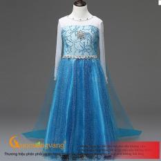 Váy đầm công chúa elsa váy đầm bé gái đính đá GLV172