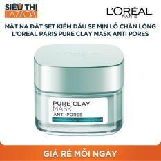 [Siêu thị Lazada] – Mặt nạ đất sét kiềm dầu se mịn lỗ chân lông L'Oreal Paris Pure Clay mask Anti pores