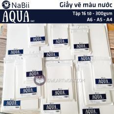 Giấy Nabii Aqua Fat vẽ màu nước 300 gsm 16 tờ – Tập lẻ – Thương Hiệu Uy Tín – Họa cụ Cú Tuyết