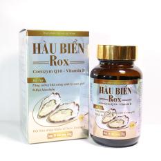Tinh Chất Hàu Biển ROX tăng cường sinh lý nam giới, bổ thận, tráng dương – Hộp 30 viên thành phần Hàu biển, Kẽm, Arginin, Coenzym Q10, Vitamin E
