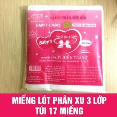 Combo 5 gói giấy lót phân xu Hiền Trang (5 x 17 tờ)