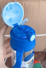 Bình nước học sinh có ống hút họa tiết hoạt hình dễ thương, tránh vỡ tránh chảy nước – Bình nước trẻ em có tay cầm, Bình nước mang theo cho con đi học