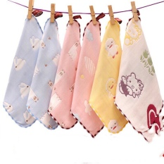 Sét 5 khăn xô leele rửa mặt 6 lớp sợi tre màu sắc 25-25cm K333