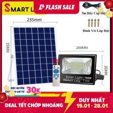 Đèn LED Năng Lượng Mặt Trời SMART LIFE 100w Điều Khiển Từ Xa Cảm Biến Ánh Sáng. Cam kết giá tốt nhất trên thị trường.