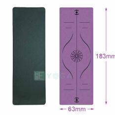 Thảm Tập Yoga Định Tuyến TPE 6mm và 8mm 1 Lớp Cao Cấp Kèm Túi
