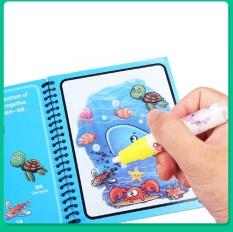 Sách tô màu thần kỳ tự xóa sau 10 phút, đồ chơi trí tuệ cho bé