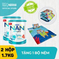 [VOUCHER 10%] Bộ 2 lon sữa bột Nestle NAN HM-O 1.7kg cho trẻ trên 2 tuổi 1.7kg + Tặng 1 bộ gối nệm cho bé trị giá 400K – Cam kết HSD còn ít nhất 10 tháng