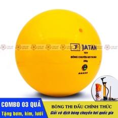 Combo 03 Quả Bóng Chuyền Hơi Thi Đấu Loại 200g và 250g – Tặng bơm tay mini, kim inox và lưới bóng