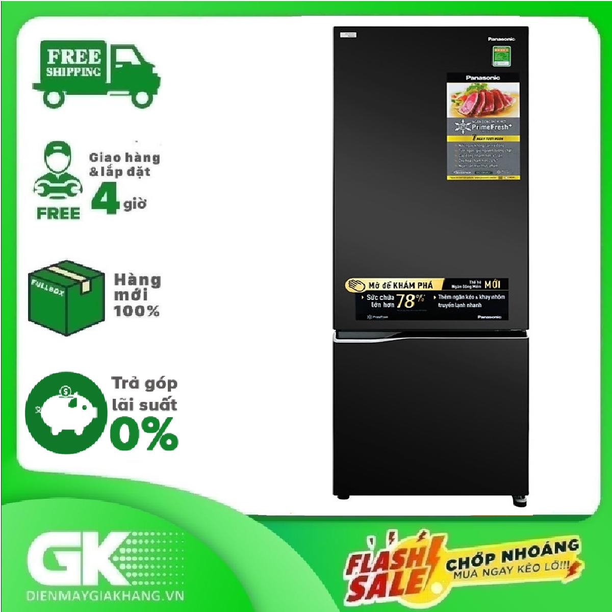 [Nhập mã EXCLUSIVE giảm thêm 10%] TRẢ GÓP 0% – Tủ lạnh Panasonic Inverter 322 lít NR-BV360GKVN- Bảo hành 12 tháng