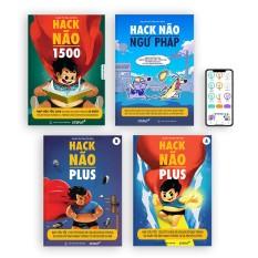 Combo 4 sách Hack Não 1500 + Hack Não Plus A, B + Hack Não Ngữ Pháp + Tặng App học miễn phí