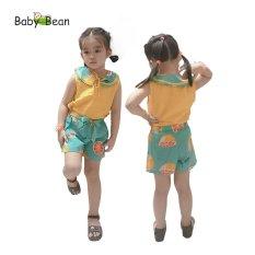 Đồ Bộ Đũi Tơ cổ Sen thắt Nơ bé gái BabyBean (8kg-40kg)